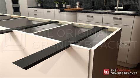 kitchen island granite top island support bracket the original granite bracket