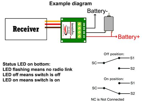 Rc Receiver Wiring Diagram by Battleswitch Radio Controlled 10a Relay