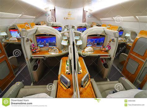 Airbus A380 Interni - interno di airbus a380 degli emirati immagine stock