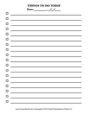 sheets checklist template blank to do list printable tim s printables
