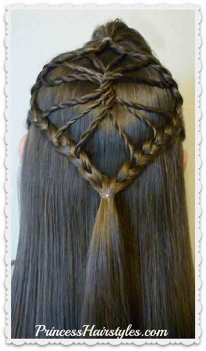 Braided Hairstyle Hair Twisted Wheel Princess Tutorial