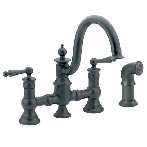 moen kitchen faucet models moen waterhill 2 handle high arc side sprayer bridge