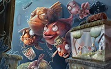 Humor funny surreal fishes animals cartoons colors ...