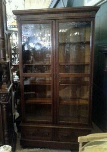 Antique Bookcase Glass Doors by Antique Glass Door Bookcase Ebay