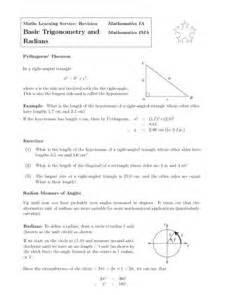 basic trigonometry and radians 9th 12th grade worksheet lesson planet