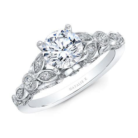 18k white gold vintage leaf design engagement ring nk35966 w bova diamonds