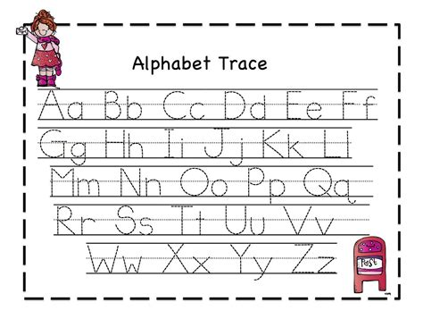 abc tracing sheets for preschool kiddo shelter