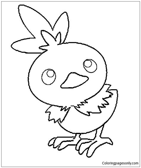 torchic pokemon coloring page  coloring pages