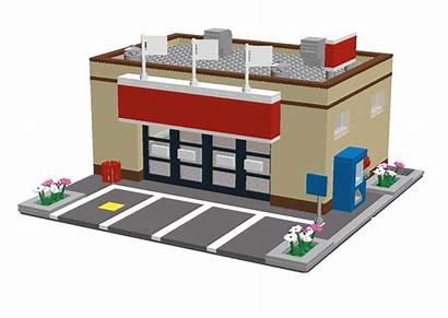 Supermarket Building Cartoon Lego Buildings Transparent Ldd