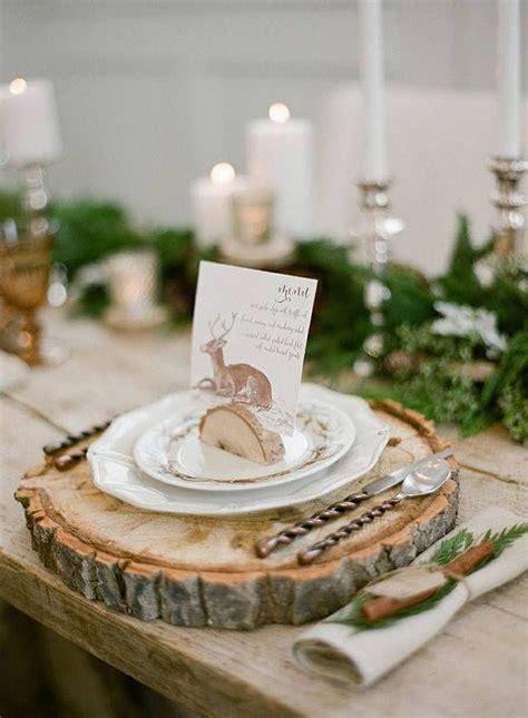 mariage hiver menu original christmas mood deco