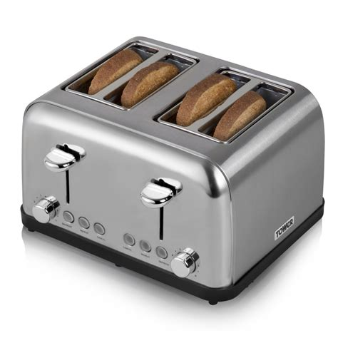 Slice Toaster by 4 Slice Stainless Steel Toaster Toasters
