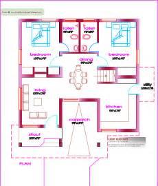 square house floor plans single floor house plan 1000 sq ft kerala home