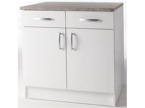 meuble bas cuisine 2 portes 2 tiroirs meubles de cuisine meuble bas quot paprika quot blanc 80 cm 2