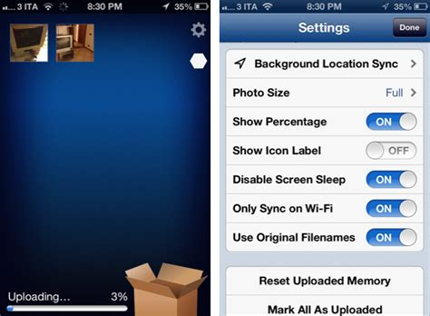 to upload photos from iphone to dropbox better dropbox uploads with camerasync macstories