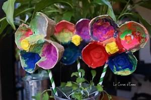 Activité Manuelle 3 Ans : activit manuelle peinture bo te oeuf fleurs printemps ~ Melissatoandfro.com Idées de Décoration