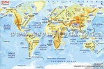 World Physical Map (With images)   World geography map ...