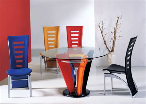colorful dining room table chairs modern dining room design