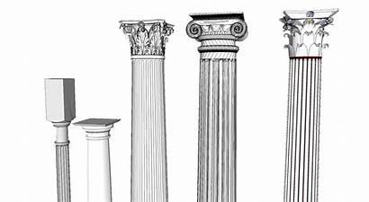Roman Column Clipart Architecture Columns Greek Types