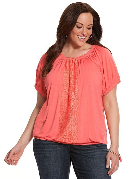 bryant blouses plus size knit peasant top by bryant bryant plus size