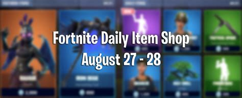 fortnite daily item shop  items  today august