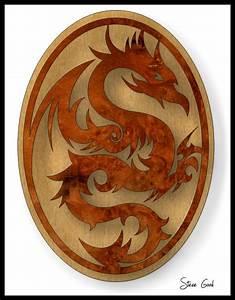 Scrollsaw Workshop: Dragon Plaque Scroll Saw Pattern