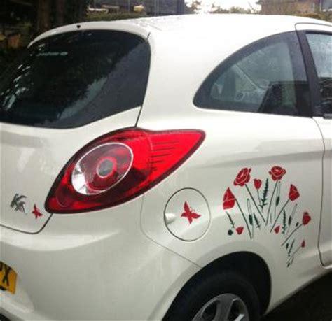 poppy field car stickers hippy motors car stickers vinyl