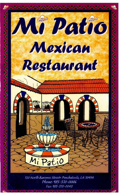 Mi Patio Mexican Restaurant Menu by Mi Patio Menu By Southeast Louisiana Web Developers Issuu