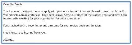 Cover Letter For Resume Email Emails Versus Cover Letters Résumés Right Away Careerblog