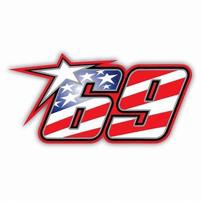 Nicky Hayden Sticker 69 Nomor Racing