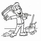 Cleaning Clipart Clean Clip Line Drawings Environment Janitor Drawing Yard Cleanliness Guy Cliparts Services 1000 Getdrawings sketch template