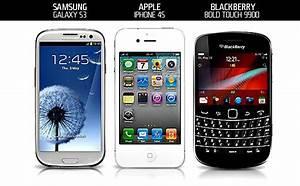 Samsung Galaxy S3 vs. iPhone 4S vs. BlackBerry Bold ...
