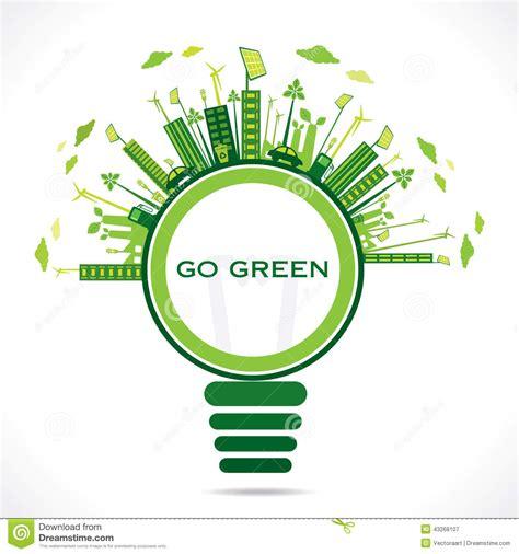 environment friendly design creative eco friendly city design background stock vector illustration 43268107