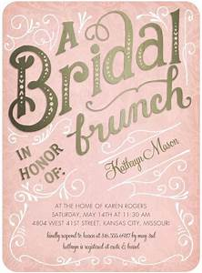 Bridal brunch signature white bridal shower invitations for Wedding shower brunch invitations
