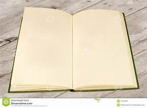 Open Old Book With Blank Pages Royalty Free Stock ...
