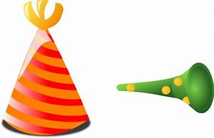 Birthday Hat And Horn Clip Art at Clker.com - vector clip ...
