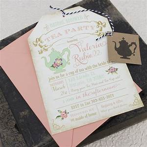 Bridal Shower Tea Party Invitations | THERUNTIME.COM