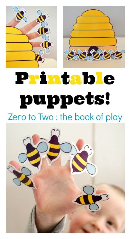 Bee Finger Puppet Template by 8 Best Images Of Bee Finger Puppet Printable Printable
