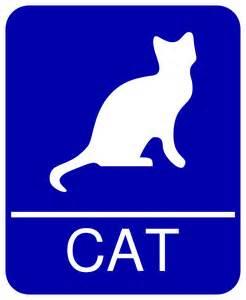cat signs clipart cat restroom sign