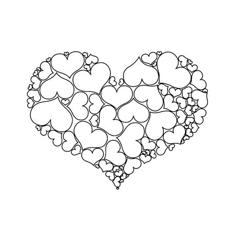Kleurplaat Moederdag Teddybeer een hart gemaakt hartjes valentijn valentijn