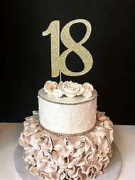 Black And Gold 18th Birthday Cakes