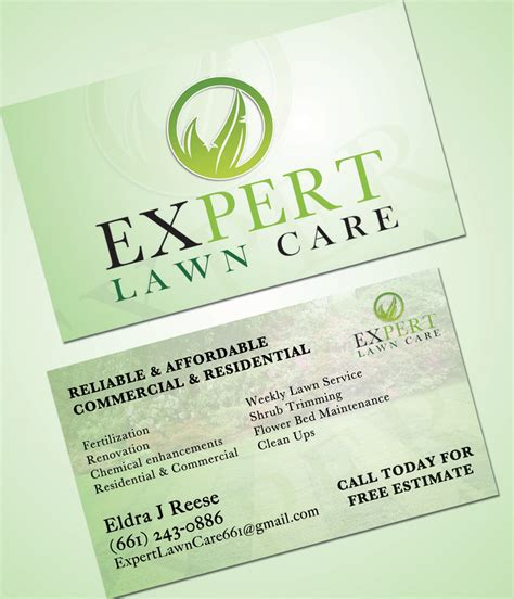 professional lawn care business card search