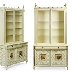 kitchen cabinets with glaze a pair of neoclassical and green painted vitrine 8012