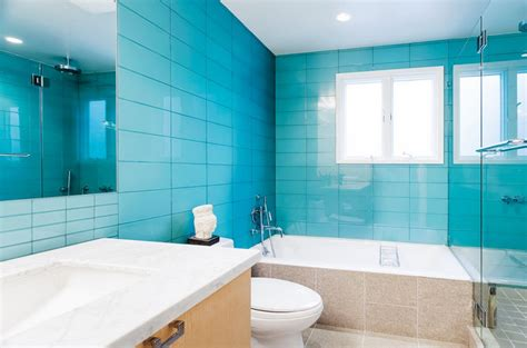 35 large blue bathroom tiles ideas and pictures