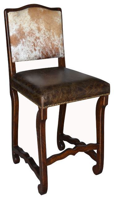 Cowhide Bar Stools Sale - classic cowhide bar stool set of 4 southwestern bar
