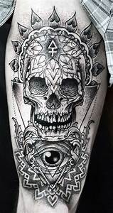 Top 80 Best Skull Tattoos For Men - Manly Designs And Ideas