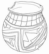 Coloring Pottery Mexican Template sketch template