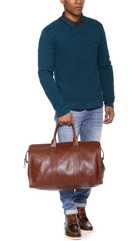 Lotuff Leather Leather Duffel Travel Bag in Chestnut ...