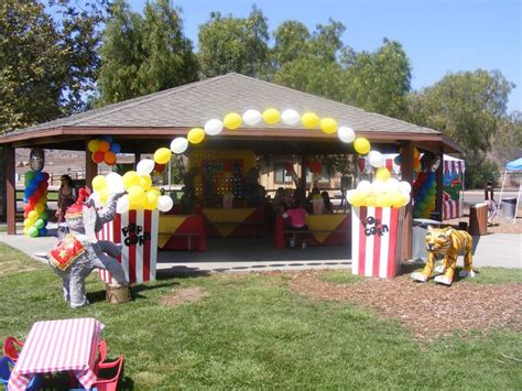 entry    parking lots carnival themed
