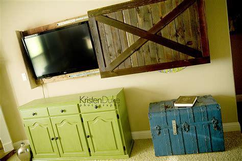 Sliding Barn Door Tv Cover sliding barn door tv cover tutorial