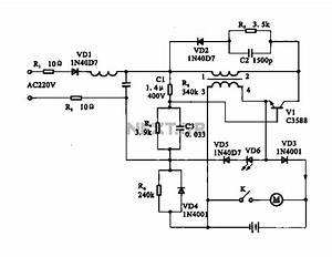 Electric Shaver Motor Drive Circuit Under Motor Control